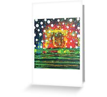 Attuned - Core Feeling : Inner Power Painting Greeting Card