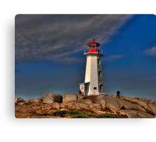 Peggy's Point Lighthouse Canvas Print