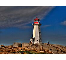 Peggy's Point Lighthouse Photographic Print