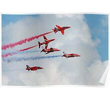 Red Arrows formation Poster