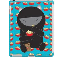 Ninja Kitty Eating Noodles iPad Case/Skin