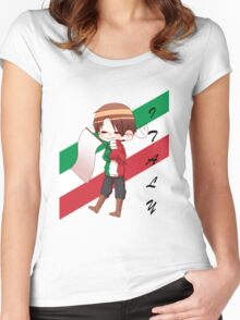 APH Italy - Flag Sweater Women's Fitted Scoop T-Shirt