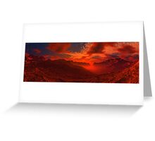 Volcanic Valley Sunset Greeting Card