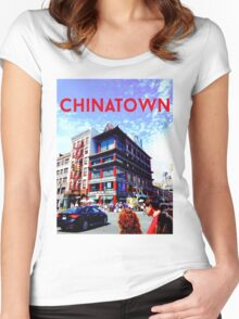 Chinatown Bank Women's Fitted Scoop T-Shirt