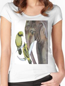 elephant fantasy no.2 Women's Fitted Scoop T-Shirt