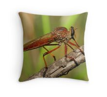 Caught Red Footed Throw Pillow