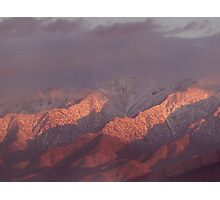 Red glow sunset in the desert Photographic Print