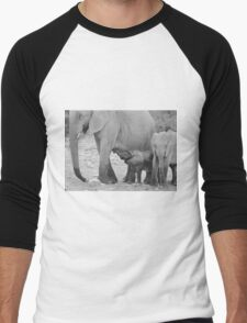Elephant Love - Milk's Wonderful Strength  Men's Baseball ¾ T-Shirt