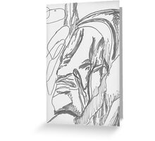 Face of Cliff - Gray Greeting Card