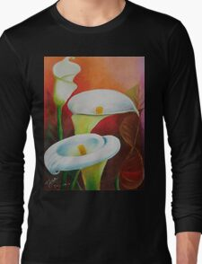 white callas Long Sleeve T-Shirt