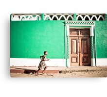 Girl at Green Mosque (IlhaMoç) Canvas Print