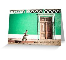 Girl at Green Mosque (IlhaMoç) Greeting Card