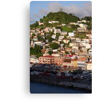 Houses on the hill Canvas Print