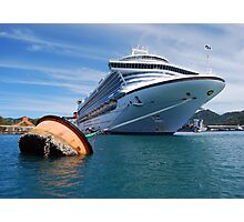 Emerald Princess Anchored Photographic Print
