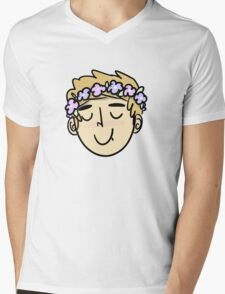 L flower boy Mens V-Neck T-Shirt