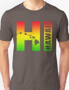 Big Hawaii HI - Rasta Surfer Colors Unisex T-Shirt