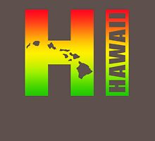 Big Hawaii HI - Rasta Surfer Colors T-Shirt