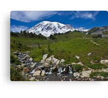 Mount Rainier, Paradise Visiting Area Canvas Print