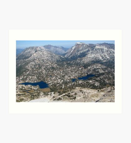 Eagle Cap Wilderness Lakes Mirrior & Moccasin  Art Print