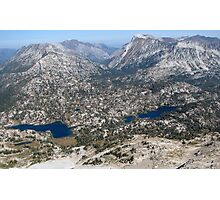 Eagle Cap Wilderness Lakes Mirrior & Moccasin  Photographic Print
