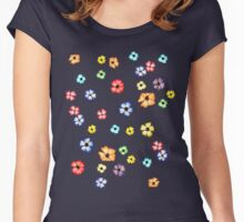 Watercolour Blossoms Women's Fitted Scoop T-Shirt