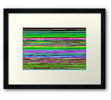 Static Glitch Framed Print