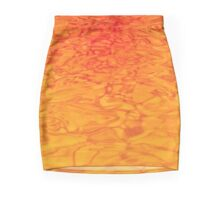 Golden Red Water - Abstract Art and Background Texture Mini Skirt