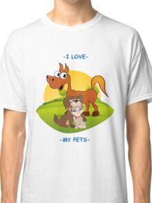 I Love My Pets Classic T-Shirt