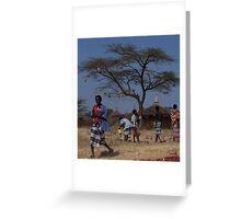 The plains of Ethiopia, Village Life Greeting Card