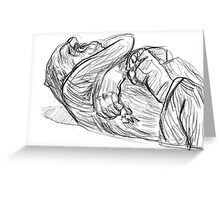 Gorilla Relaxes at Melbourne Zoo Greeting Card