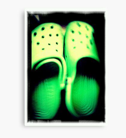 Green Feet Canvas Print