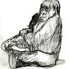 Seated Gorilla Girl  by WoolleyWorld