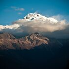 Peaking Through the Heavens - Annapurna South, Nepal by Marcus Krigsman