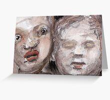 dolls heads Greeting Card