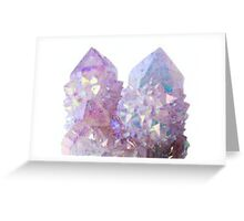 pastel crystals Greeting Card