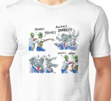 Zombies need Brains - Won't find them in Washington D.C. Unisex T-Shirt