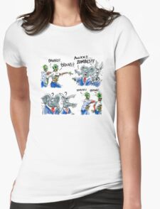 Zombies need Brains - Won't find them in Washington D.C. Womens Fitted T-Shirt