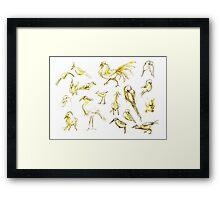 Yellow Birds Framed Print