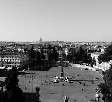 Rome cityscape  by Andrea Mazzocchetti