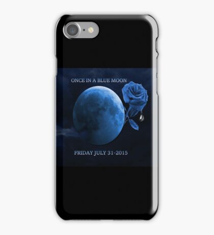 ONCE IN A BLUE MOON - BETRAYER MOON - FRIDAY JULY 31-2015-PILLOWS,TOTE BAG,BOOKS,MUGS,SCARF,CARDS,ECT. iPhone Case/Skin