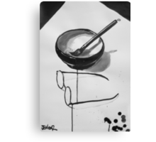 the zen of my glasses and brush Canvas Print