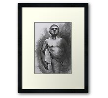 Tony out of the dark Framed Print