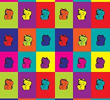 Maneki Neko Kitty Rainbow Pop Art by ValeriesGallery