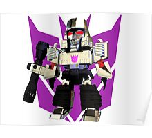 Transformers Megatron Deformed 3D Poster