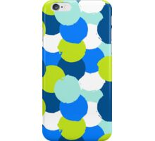 Bold geometric pattern with blue green circles iPhone Case/Skin