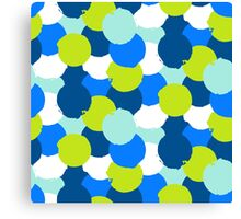Bold geometric pattern with blue green circles Canvas Print