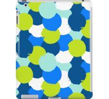 Bold geometric pattern with blue green circles iPad Case/Skin