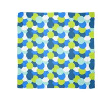 Bold geometric pattern with blue green circles Scarf