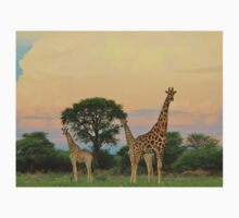 Giraffe - Sunset Storm Watchers Kids Tee