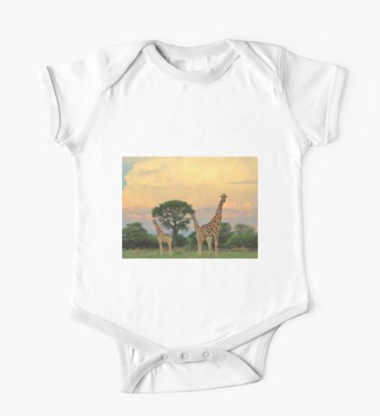 Giraffe - Sunset Storm Watchers One Piece - Short Sleeve